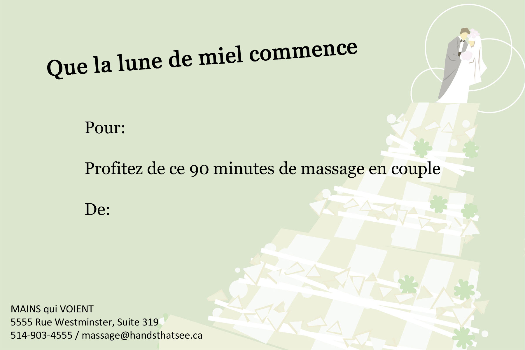 Un massage en couple. Vous pouvez choisir d'être dans la même suite ou dans des suites séparées pour ce traitement.